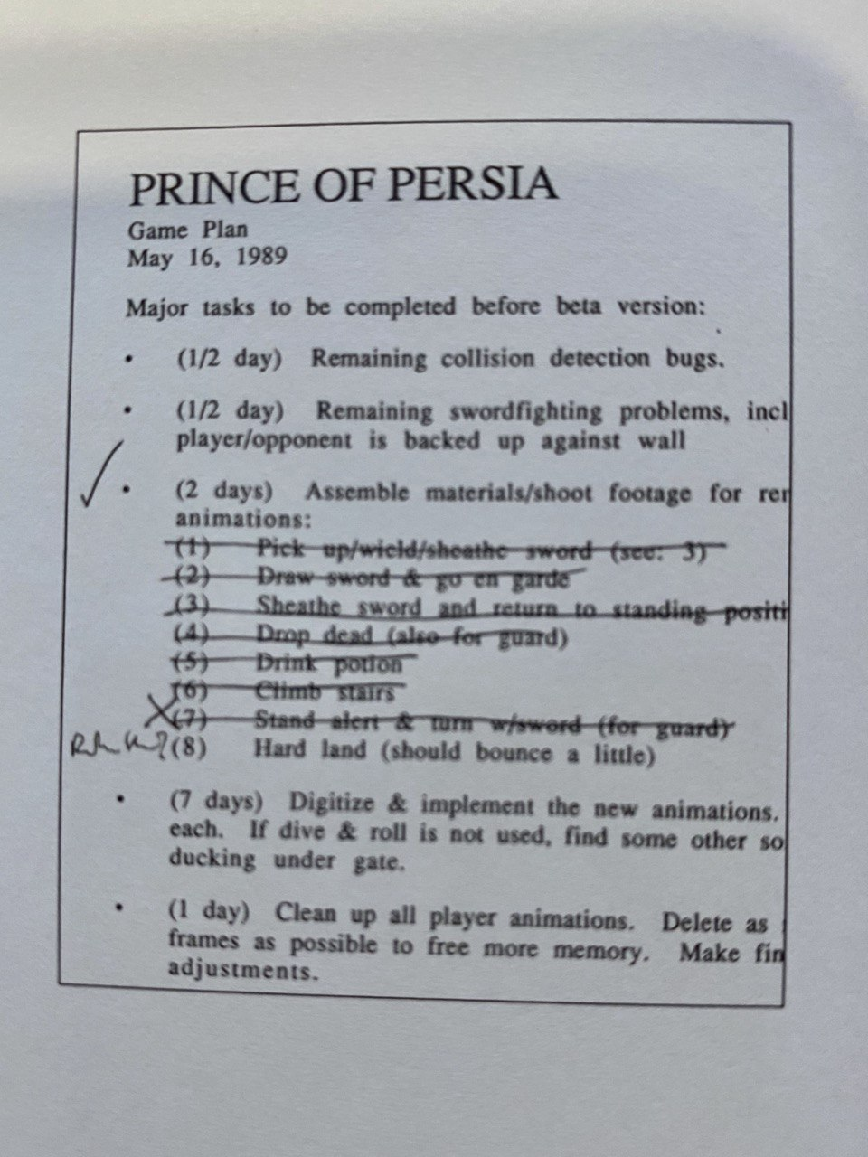 Prince Of Persia Tasks, Ex. 1